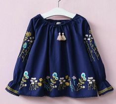 Dresses Length: Above Knee, MiniMaterial: CottonSize: Type: Broadcloth Easter Dresses For Kids, Cute Summer Dresses, Dresses Kids Girl, Summer Outfits, Toddler Outfits, Girl Outfits, European Fashion, European Style, Girl Sleeves