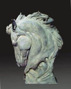 Jonathan Johnson Artwork Title: Of Strength and Honor, Sculpture Ceramic. Contemporary artist from Pryor Montana United States. Pottery Sculpture, Horse Sculpture, Animal Sculptures, Bronze Sculpture, Sculpture Images, Horse Head, Horse Art, Artist Portfolio, Portfolio Website