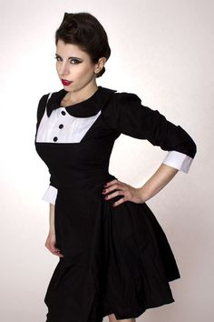 1accfb90ff878 Wednesday Aadams Gothic Dolly Lolita Dress as seen in Bella Morte Magazine  - product images of