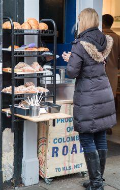 Columbia Road Flower Market, London by Stephanie Sadler, Little Observationist Columbia Road Flower Market, Little Black Books, Spring Time, Winter Jackets, London, Marketing, Shopping, Winter Coats, Winter Vest Outfits