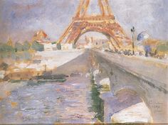 The Eiffel Tower Under Construction Carl Larsson
