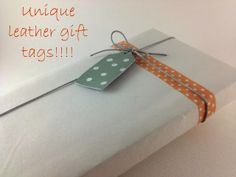 Unique Leather Gift Tags!!!!