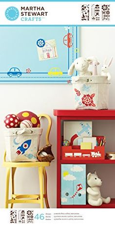 Martha Stewart Crafts Large Stencils 875 by 1675Inch 32302 Playroom 3 Sheets with 46 Designs * You can get more details by clicking on the image.