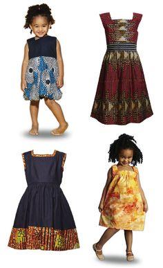 "ethiopienne: "" africanfashion: "" African print kids dresses :) "" ajsakfjsaklfdjafklsdj """