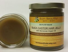 Jamaican Black Castor Hair Jelly Moroccan Argan by BornBeautifulBB