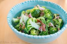 Broccoli salad is one of my favorite fridge staples. Being able to open the fridge and nosh on something wholesome keeps me from going to the pantry and opening up a bag of chips. And that is exactly what I need right now, after all the Christmas cookies and sweets I have eaten in recent weeks! I think there are a few secrets to great broccoli salad, so let's dive in: Secret #1: Take the bite out of the onions with a little vinegar A quick 10 minute soak in vinegar (or water, if you don&#...