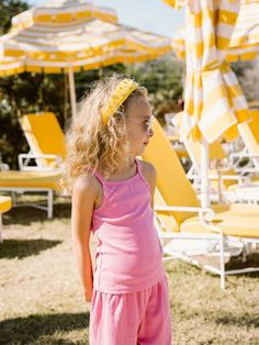 Girl's Ribbed Knit Cotton Lounge Sets in Golden and Bubblegum!