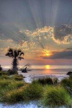 state parks, sunset, art prints, sunris, hunting, beach, place, hunt island, south carolina