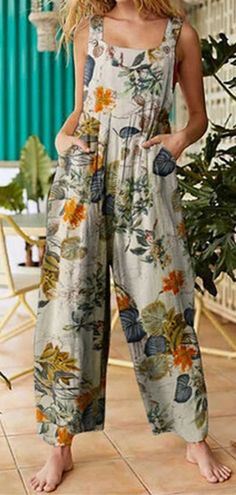 Share to: Women Floral Print Cotton Holiday Casual Wide Leg Jumpsuit Jumpsuits For Women, Printed Cotton, Casual Chic, Floral Prints, Dressing, Rompers, Hoodies, Womens Fashion, Outfits