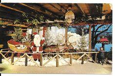 Christmas Postcard Santa Claus Rustic Manor Restaurant Chrome UnPosted  #1215 #Christmas