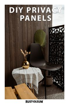 Are you looking for a privacy panel or screen for your patio? Create your own privacy panels on a budget with this quick and easy DIY project you can do in one day! Prime with Bulls Eye 1-2-3 and use Rust-Oleum Stops Rust to ensure your project withstands the elements.