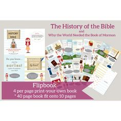 A very cool printable flip book about the History of the Bible from The Red Headed Hostess Book Of Mormon Pdf, Mormon Bible, My Church, Church Ideas, Print Your Own Book, Red Headed Hostess, Lds Books, Lds Scriptures, Doctrine And Covenants