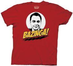 Big Bang Theory Sheldon Bazinga! Men`s T-Shirt