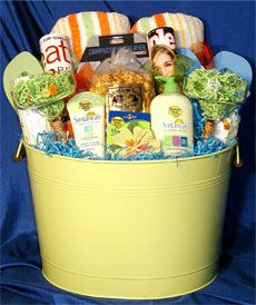 The silent auction will feature gift baskets for everyone - hers, his and even something for the kids. #giftbaskets