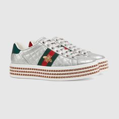 dcd4b8b7f326a Shop the Ace sneaker with crystals by Gucci. Since its debut