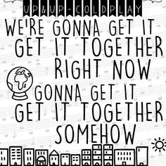 up and up - coldplay lyric art