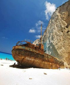 Shipwreck Island, Zakynthos, Greece
