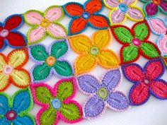 I saw a woman crocheting on the train this evening and it reminded me of my blanket project that's collecting dust while I'm pouring over research articles and pictures of wounds. I pinned this pic for being bright, cheerful and fun...