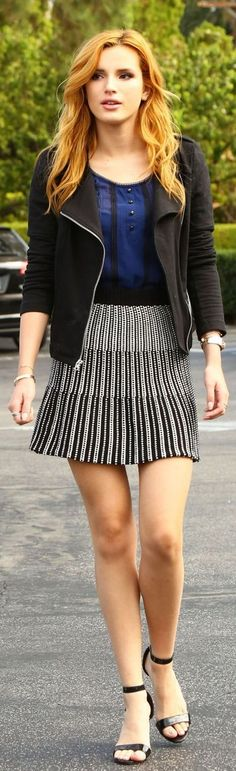 """( ☞ 2017 ★ HOT CELEBRITY WOMAN ★ BELLA THORNE...IN A MINISKIRT AND HIGH HEELS. ) ★ Annabella Avery Thorne - Wednesday, October 08, 1997 - 5' 8"""" 123½ lbs 34-24-33 - Pembroke Pines, Florida, USA."""