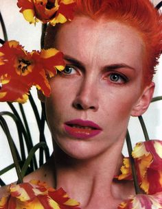 """periodicult: """"Annie Lennox, photographed by Kazumi Kurigami for American Vogue, July 1984. """""""