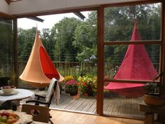 Hanging Hammock Chair: Cacoon.  I really would love to have one of these!