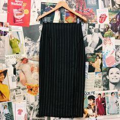 Hustle & the Vixen x Pinstripe High Waist Skirt w/ the Angie Split