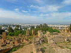 Карфаген, а внизу разрослась столица современного государства Тунис