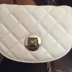Purse Gold and white Bags Clutches & Wristlets