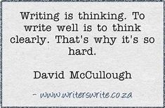 Image result for writing is thinking clearly