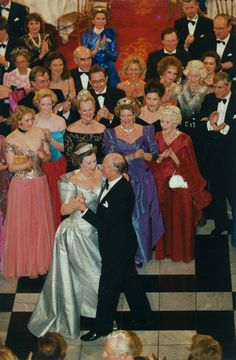 kongehuset.dk:  Silver Anniverary, 1993-Princess Benedikte and Prince Richard with Princesses Alexandra and Nathalie, and Queens Margrethe, Anne-Marie and Ingrid among the guests