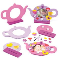 Teapot Photo Frame..... It's tea time! Create a beautiful foam teapot photo frame, insert a photo and give it to your mum, granny or a friend as a lovely gift.