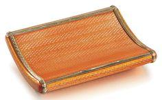 A Fabergé gold-mounted enamel cigarette case, Moscow, Faberge Jewelry, Vintage Cigarette Case, Cigar Cases, Art Nouveau, Smoking Accessories, Vintage Purses, Auction, Enamel, Antiques