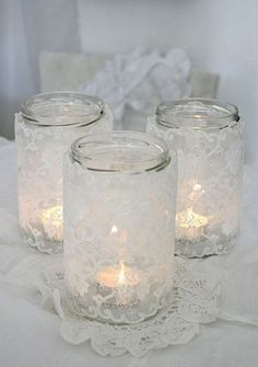 Another use for mason jars that I think is so lovely