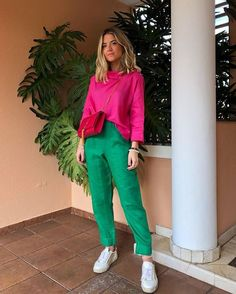 Best Spring Outfits Casual Part 9 Color Blocking Outfits, Colour Blocking Fashion, Stylish Outfits, Fashion Outfits, Fashion Tips, Fashion Design, Fashion Trends, Fashion Quotes, Fashion Pants