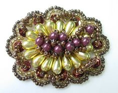 SB119 Vintage Style Beaded Jewelry Applique Motif