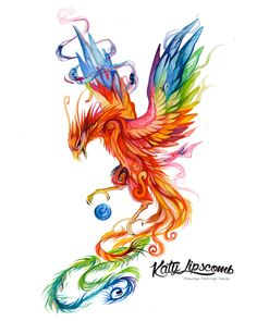 HXMAN Colorful Watercolor Phoenix Dragon Temporary Tattoos for Kids Women Hand Tatoo Sticker Body Art A 114 Tattoos For Kids, Fake Tattoos, Body Art Tattoos, Sleeve Tattoos, Tattoos For Women, Tatoos, Wing Tattoos, Phoenix Drawing, Phoenix Art