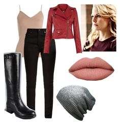 """""""Emma Swan or Emma Jones"""" by panic-at-the-walking-dead ❤ liked on Polyvore featuring Once Upon a Time, Hanro and Yves Saint Laurent"""