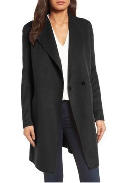 Main Image - Kenneth Cole New York Double Face Coat (Regular & Petite)