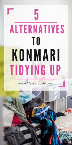 5 EASY Alternatives to KonMari Method - Find different ways of tidying up your home and getting organized! The KonMari Method is great, but it's not suitable for everyone - these 5 alternatives will help you find the right way to declutter your home. Speed Cleaning, Deep Cleaning Tips, House Cleaning Tips, Spring Cleaning, Cleaning Hacks, Cleaning Schedules, Homemade Shower Cleaner, Clean Baking Pans, Mattress Cleaning