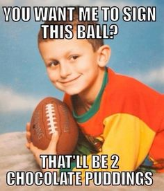 johnny manziel kid selling autographs