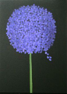 Purple Hydrangea acrylic 18x24