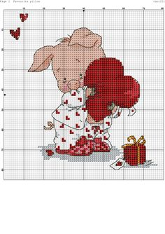 New embroidery heart pattern punto croce ideas Embroidery Hearts, Embroidery Patterns Free, Crewel Embroidery, Counted Cross Stitch Patterns, Cross Stitch Designs, Cross Stitch Embroidery, Cross Stitch Heart, Cross Stitch Cards, Cross Stitch Animals
