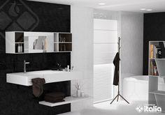 En los colores para baños, la combinación del blanco y del negro nunca pasarán de moda, al ser colores de extremos opuestos dan como resultado una decoración de baños elegante y sobria. #ElBañoQueTeMereces #CerámicaItalia #ColoresBaños Bathtub, Bathroom, Elegant Bathroom Decor, White People, Black, Chic Bathrooms, Griffins, Bowl Sink, Standing Bath