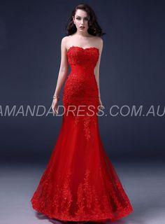 amandadress.com.au SUPPLIES Fall Beading Sleeveless Lace-up Trumpet/Mermaid Appliques Spring Sweetheart Wedding Dress Sexy Wedding Dresses