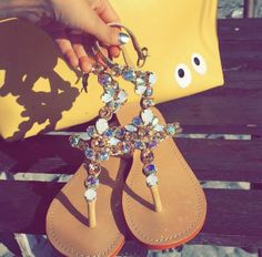 Wedge Sandals, Leather Sandals, Mystique Sandals, Bridal Sandals, Jeweled Sandals, Contemporary Style, Tory Burch, Pairs, Shoes