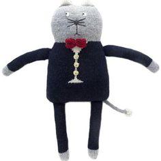 Theo Cat by Petits Fournier, handknit of alpaca wool
