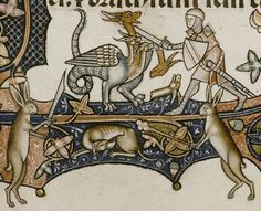 The Ormesby Psalter  http://bestiary.ca/chimaera/wp-content/images/Bodleian-Douce-366-f128r2.jpg