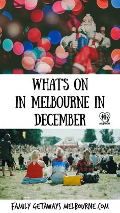 Things to do in December in Melbourne, Australia. Events in December held in and around this fine city. Plenty to see and do for you and your family and friends. It's NOT just about Christmas Stuff To Do, Things To Do, Family Getaways, Melbourne Australia, Your Family, Day Trips, December, Tours, Events