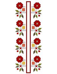 """Bulgarian Flower"" Embroidery Motifs, Cross Stitch Embroidery, Cross Stitch Patterns, Machine Embroidery, Tatting Patterns Free, Set Design Theatre, Embroidered Towels, Textile Patterns, Cross Stitching"