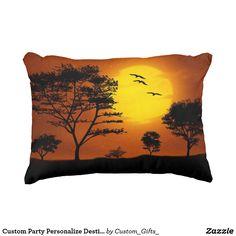 Custom Party Personalize Destiny Destiny'S Decorative Pillow